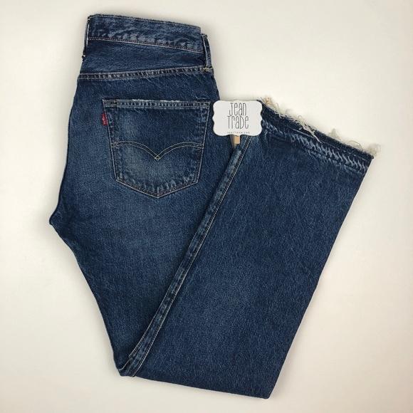Levi's Denim - Levi's Sample 501 High Waist Distressed Jeans